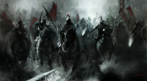 war black army battle knights army of darkness horses red flag 1400x773 wallpaper_www.wall321.com_35