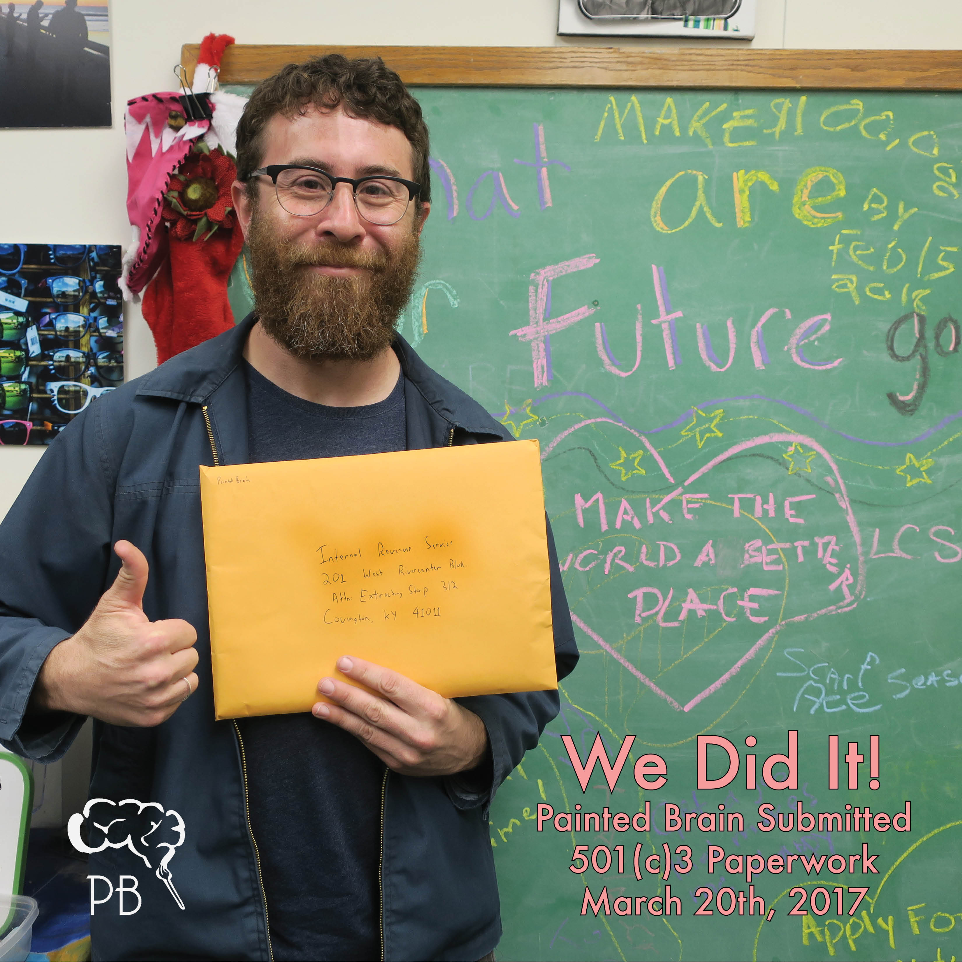 We did it! Painted Brain submitted 501(c)3 paperwork March 20, 2017