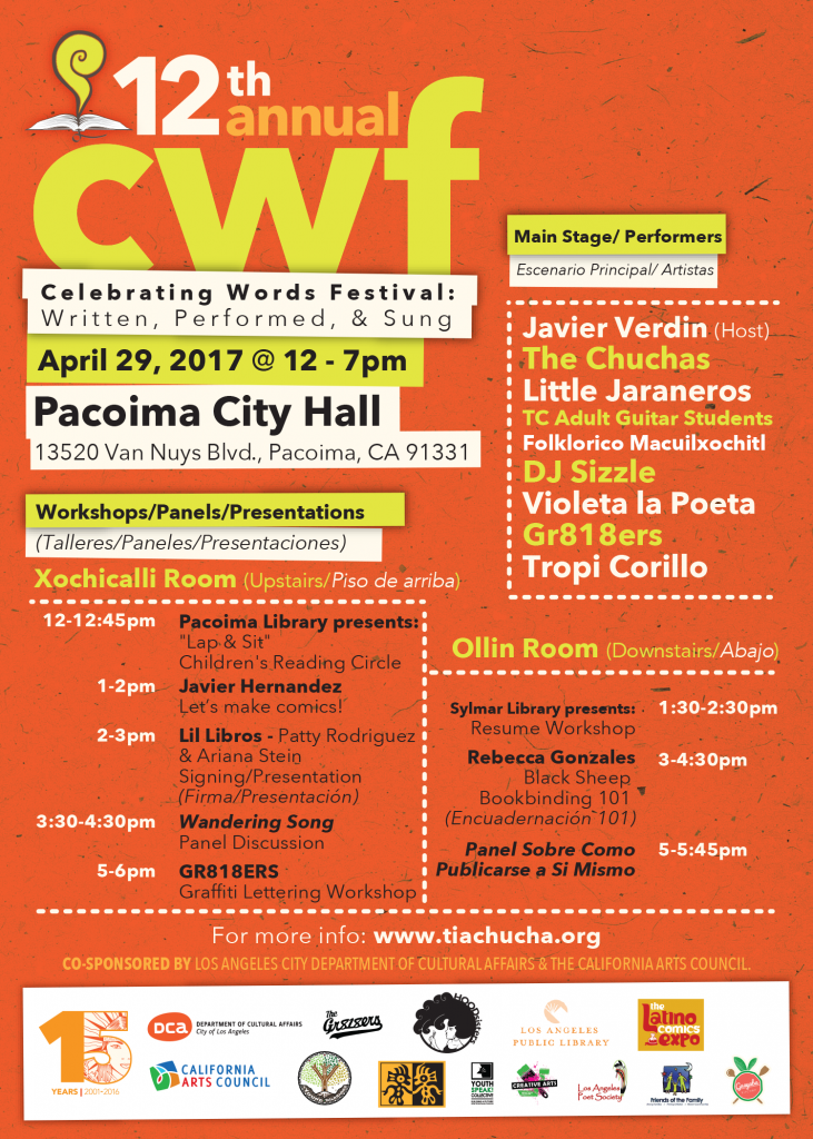 Tia Chucha celebrating words festival