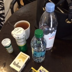 Painted Brain | Depakote, Buspar, Tea, Water, And Cigarettes