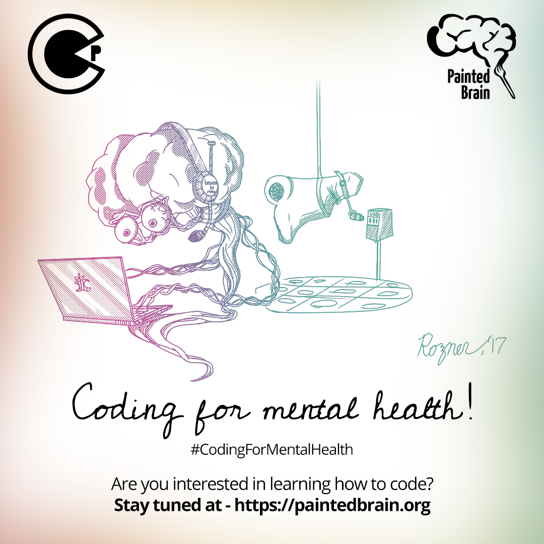 Coding For Mental Health Painted Brain and CodiePie