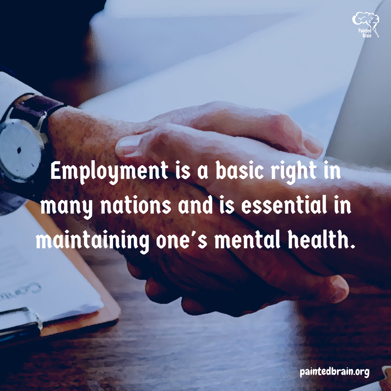 Pathway to employment essential to mental health