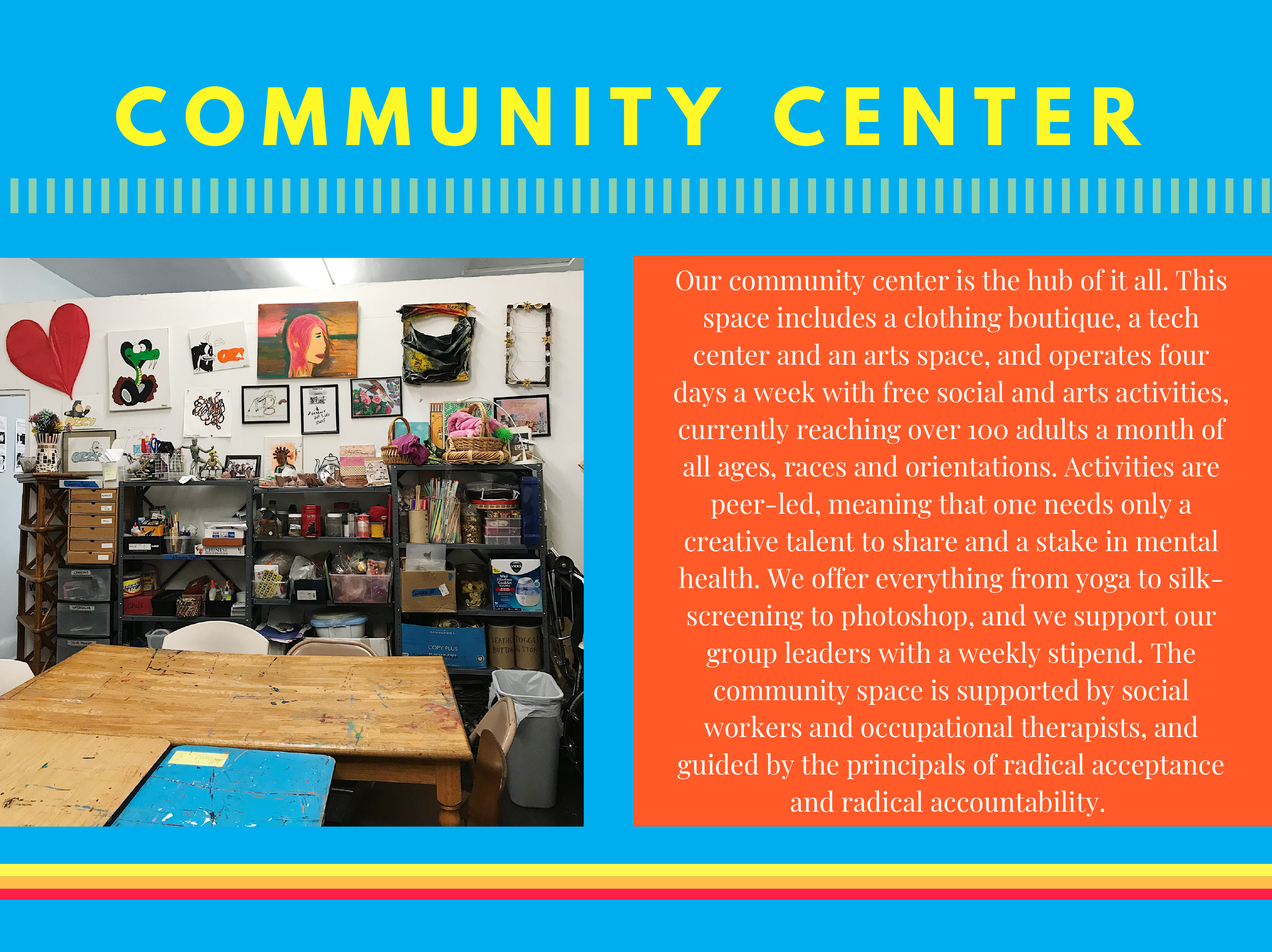 From the pitch deck: the community center
