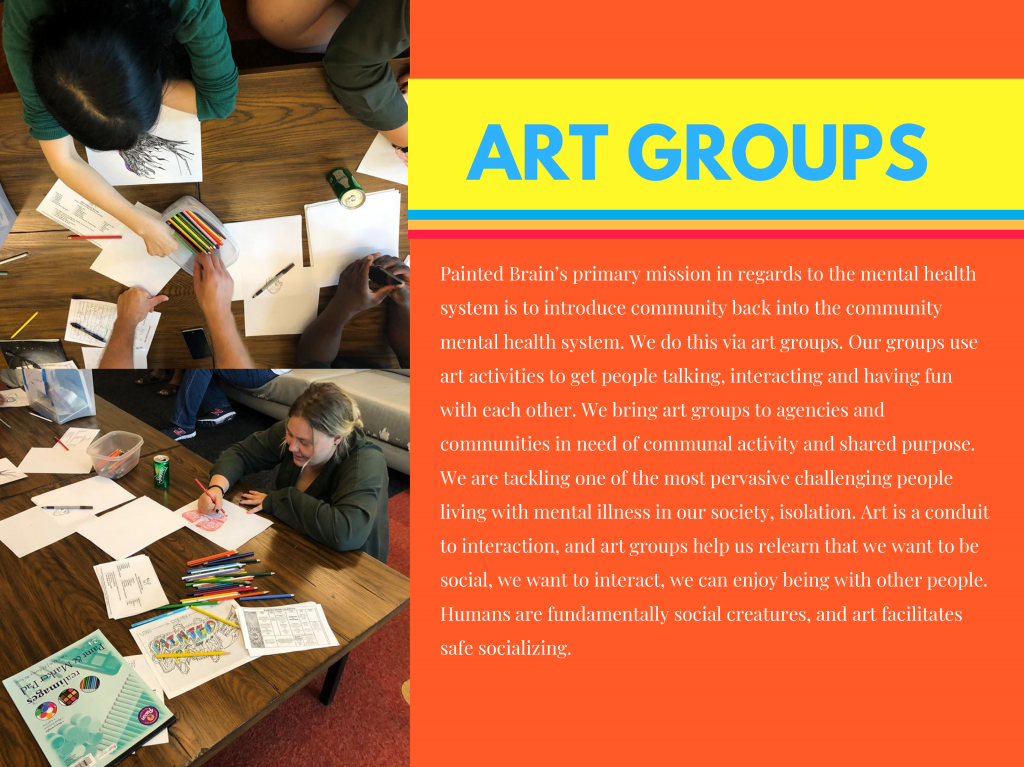 From the pitch deck: information on art groups