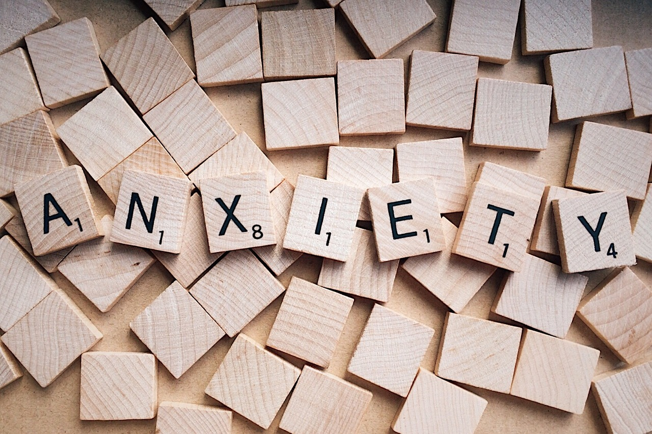 "This is an image of the word ""anxiety."""