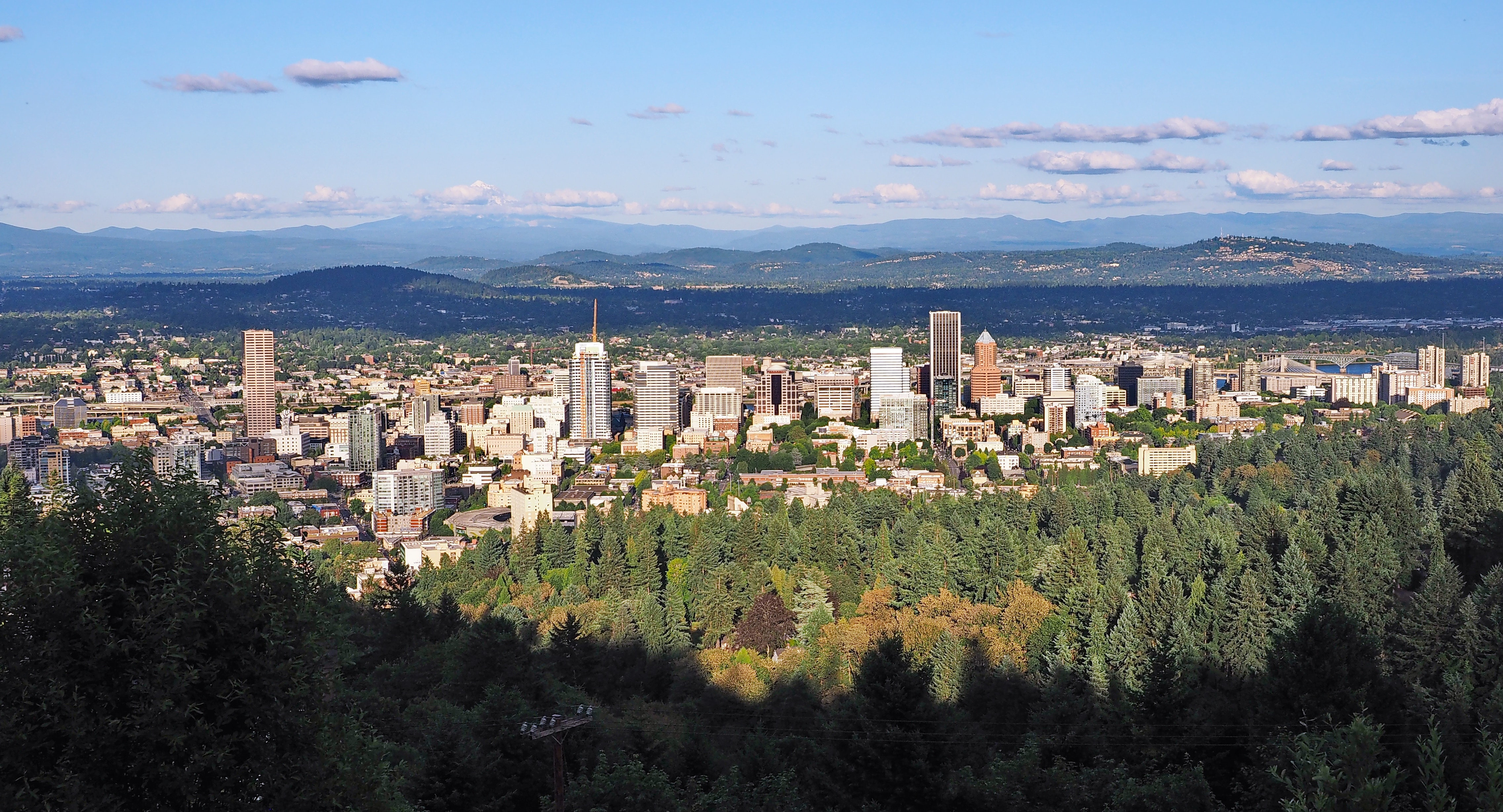 Beautiful view from the Pittock Mansion in Portland, Oregon.